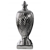 Ceramic Finial With Base LG Polished Chrome Finish Silver