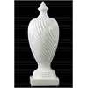 Ceramic Finial With Base LG Gloss Finish White