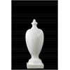 Ceramic Finial With Base SM Gloss Finish White