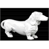 Ceramic Standing Dachshund Dog Figurine Gloss Finish White