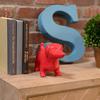 Ceramic Standing Dachshund Dog Figurine Gloss Finish Red