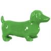 Ceramic Standing Dachshund Dog Figurine Gloss Finish Green