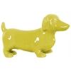 Ceramic Standing Dachshund Dog Figurine Gloss Finish Yellow