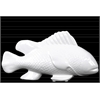 Ceramic Sea Bass Fish Figurine Gloss Finish White
