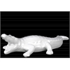 Ceramic Crocodile Figurine Matte Finish White