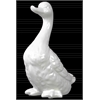 Ceramic Laying Goose Figurine Gloss Finish White