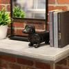 Ceramic Standing Dachshund Dog Figurine Gloss Finish Black
