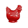 Ceramic Hen Figurine Gloss Finish Red