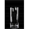 Glass Tall Cylinder Vase with Round Mouth and Tapered Bottom LG Clear Glass Finish Achromatic
