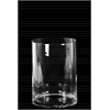 Glass Wide Cylinder Vase with Round Mouth SM Clear Glass Finish Achromatic