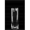 Glass Tall Cylinder Vase with Slim Body, Round Mouth and Tapered Bottom Clear Glass Finish Achromatic