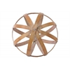 Bamboo Orb Dyson Sphere Design (5 Circles) LG Natural Wood Finish Brown