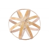 Bamboo Orb Dyson Sphere Design (5 Circles) LG Natural Wood Finish Light Brown