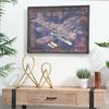 "Wood Rectangular Panel Giclée Print of ""Aircraft Blueprint"" with Frame Coated Finish Black"