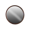 Wood Round Wall Mirror Natural Finish Brown