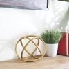 Metal Orb Dyson Sphere Design LG Rust Finish Antique Gold