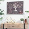 Metal Round Abstract Design Sculpture Set of Two Metallic Finish Gold