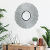 Metal Abstract Decor Set of Two Metallic Finish Silver