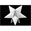 Ceramic Stellated Dodecahedron Sculpture LG Gloss Finish White