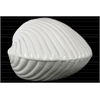 Ceramic Clam Seashell Figurine Gloss Finish White