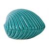 Ceramic Clam Seashell Figurine Gloss Finish Blue