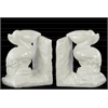 Ceramic Pelican Bird on Base Bookend Assortment of Two Gloss Finish White