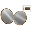 Metal Round Wall Mirror Set of Two Tarnished Finish Antique Gold