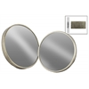Metal Round Wall Mirror Set of Two Tarnished Finish Antique Silver