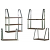 Wood Rectangular Wall Shelf with Metal Braces Set of Four (3 Tier,2 Tier and 2 x 1 Tier) Natural Wood Finish Brown