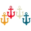 C Iron Anchor Sculpture Wall Decor Assortment of Four Gloss Finish Assorted Color(Yellow, Dark Blue, White, Red)