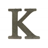 "Metal Alphabet Wall Decor Letter ""K"" Tarnished Finish Bronze"