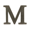 "Metal Alphabet Wall Decor Letter ""M"" Tarnished Finish Bronze"