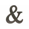 "Metal Alphabet Wall Decor Symbol ""&"" Tarnished Finish Bronze"