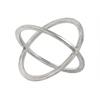 Metal Orb Dyson Sphere Design (2 Circles) LG Metallic Finish Silver