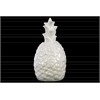 Ceramic Pineapple Figurine Gloss Finish White