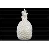Ceramic Pineapple Figurine Gloss Finish White