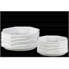 Ceramic Octagonal Pot Set of Two Gloss Finish White