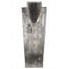 Ceramic Bust Jewelry Display with Combed Design Electroplated Finish Silver