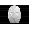 Ceramic Round Owl Figurine LG Gloss Finish White