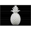Ceramic Pineapple Figurine Pimpled Coated Finish White