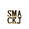 "Ceramic Alphabet Tabletop Decor Letter ""SMACKJ"" Assortment of Six SM Gloss Finish Gold"
