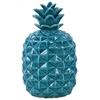 Ceramic Pineapple Figurine LG Gloss Finish Blue