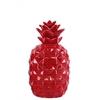 Ceramic Pineapple Figurine SM Gloss Finish Red