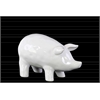 Ceramic Standing Pig Figurine SM Gloss Finish White