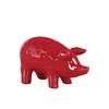 Ceramic Standing Pig Figurine SM Gloss Finish Red