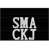 "Ceramic Alphabet Tabletop Decor Letter ""SMACKJ"" with Embossed Diamond Design Assortment of Six SM Gloss Finish White"