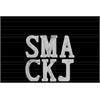 "Ceramic Alphabet Tabletop Decor Letter ""SMACKJ"" Assortment of Six SM Polished Marble Finish White"
