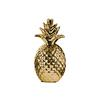 Ceramic Pineapple Figurine Pimpled Polished Chrome Finish Gold