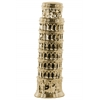 Ceramic Leaning Tower of Pisa Sculpture Gloss Finish Gold