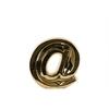 "Ceramic Alphabet Symbol ""@"" Figurine SM Polished Chrome Finish Gold"